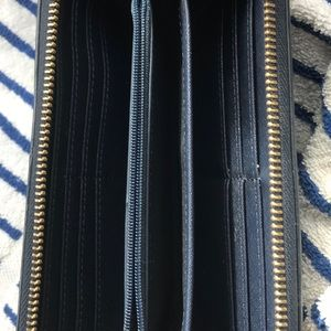 Fossil Accessories - Fossil Wallet, Genuine Leather, Navy Blue